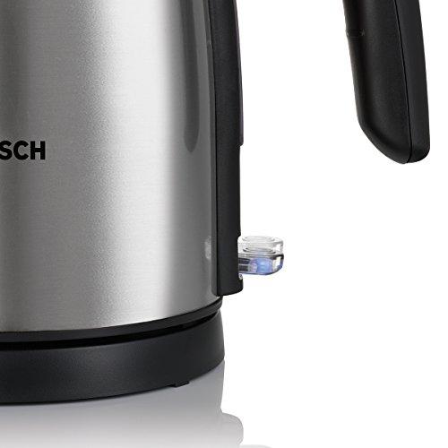 Bosch TWK7801 Wasserkocher in Edelstahl (2200 W maximal, 1,7 L, Abschaltautomatik, Kalkfilter), edelstahl / schwarz - 5