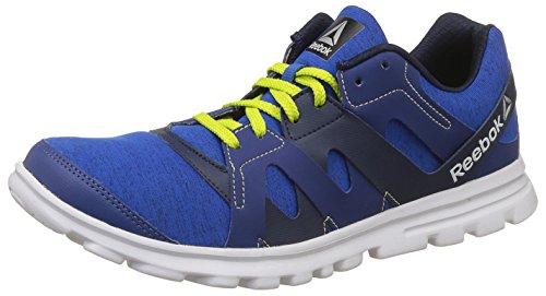 Reebok Men's Electro Run Blue/Navy/Yellow/Wht Running Shoes - 11 UK/India (45.5 EU)(12...