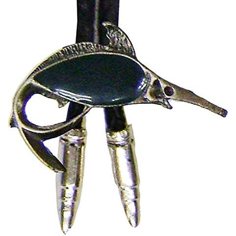 Modestone Men's Bolo Marlin Fish & Silver Bullets O/S Silver