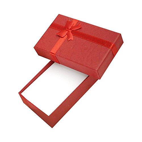 Flying Light 5 Stück kleine Geschenkbox für handgefertigten Schmuck Ring Ohrringe Halskette rot -