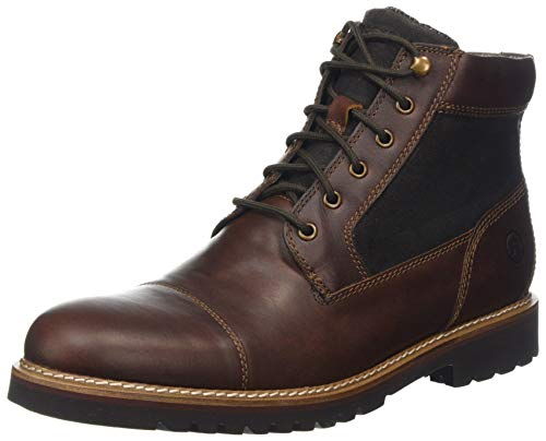 HUWSO|#Rockport Herren Marshall Rugged Cap Toe Boot Klassische Stiefel, (Saddle Brown, 43 EU Herren Cap Toe Boot