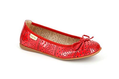Pablosky Unisex, bambini 814869 Ballerine con lacci Rosso Size: 38