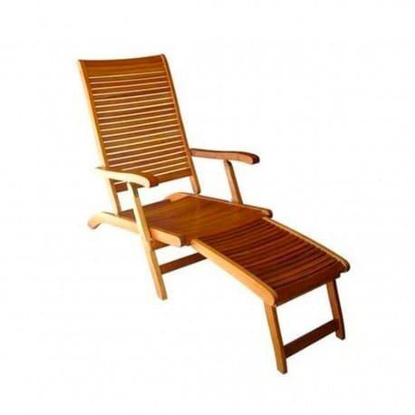 Amicasa. Liege Garten Sonnenliege Meer Holz Fußstütze Malaga