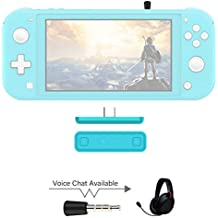 AKNES Ruta de Aire Pro Adaptador Bluetooth para Nintendo Interruptor/Switch Lite ps4 pc, Bluetooth Wireless Audio transmisor de la Ayuda airpods - Turquesa