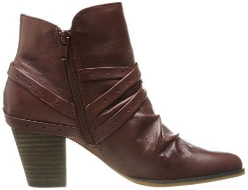 Bella Vita Kiki Femmes Large Cuir Bottine Dark Tan