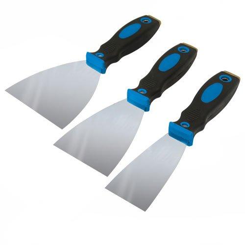 Silverline 661661 Jeu de 3 couteaux à enduire 50/75/100 mm