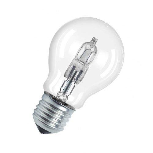 Osram Classic A Halogen-Lampe, E27-Sockel, dimmbar, 30 Watt - Ersatz für 40 Watt, Warmweiß - 2700K, 2er-Pack -