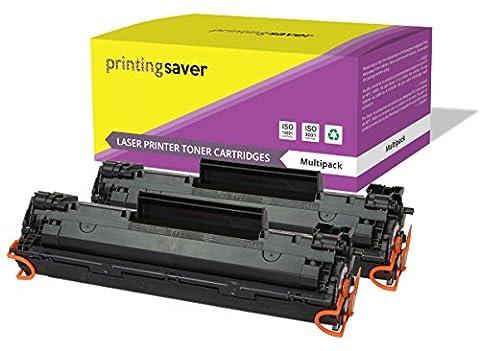 CF283A / 83A Printing Saver 2x Compatibles Cartouches de Toner pour HP LaserJet Pro MFP M201dw, M201n, M202dw, M202n, MFP M125a, M125nw, M125rnw, M125m, M126a, M126nw, M127fn, M127fp, M127fw, M128fn, M128fp, M128fw, M225dn, M225dw imprimantes
