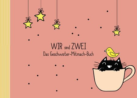 "Geschenk: Geschwisterbuch""WIR sind ZWEI"" (Fotoalbum/Erinnerungsbuch, Recycling-Papier, Öko)"