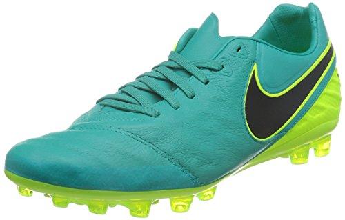 ... (Clear Jade / Black-Volt). Nike Tiempo Legacy Ii Ag-R, Chaussures de  Foot Homme Vert - Verde (