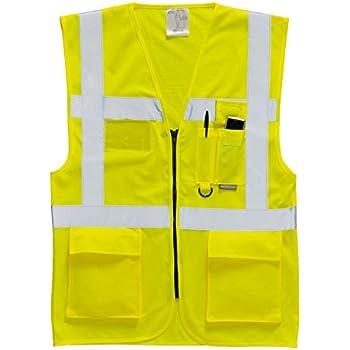 10 x Blackrock jaune à manches longues Hi Vis Gilet Haute Visibilité Viz 80100