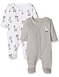 NAME IT Unisex Baby Schlafstrampler NBNNIGHTSUIT 2P W/F NOOS