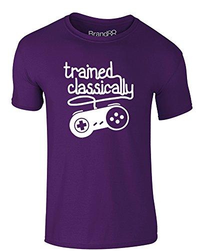 Brand88 - Trained Classically, Erwachsene Gedrucktes T-Shirt Lila/Weiß