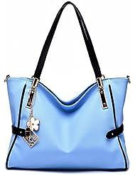 Mujer Cool atmósfera moda femenina messenger bolsa de Hombro cielo azul