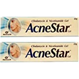 Acnestar Gel  Anti-inflammatory   Anti-bacterial   For Acne, Pimples, Whiteheads And Blackheads   (22 gm x Pack of 2)