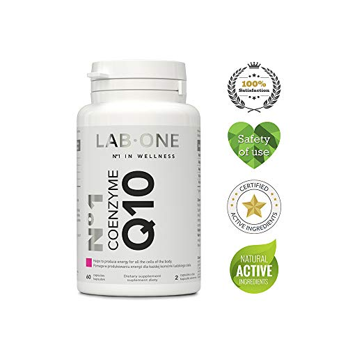 LAB ONE - Coenzyme Q10 - Ubichinol 60 Capsules - 100mg / tablet. N°1 Wellness Supplements. Take Care of your Health - Compound-60 Tabletten