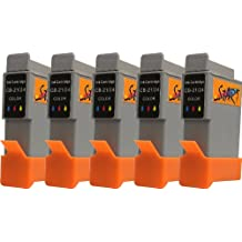 Start 5 Replacement Ink Cartridges Compatible with BCI - 21 BCI - 24 Colour for Canon Pixma iP1000 / iP1500 / iP2000 / MP110 / MP390 MP130, I250, I255, I320, I350, I355, I450, I455, I470D, I475D, Smartbase, MP375R MP360 / MP370 / MP390 / MPC190 / MPC200 / Pixus 320i 455i, 475Pd-Mp10 / MP360 / MP370 / MP390 MP375R, MP5 imageClass MPC190 / MPC200, S200, S210, S300, S330, S330, Multipass Photo F20 / MP360 / MP370