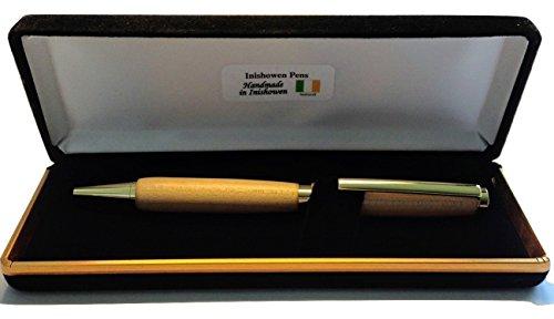 Handgearbeiteter Kugelschreiber aus Holz, Kugelspitze–Hergestellt in Irland aus Ahorn