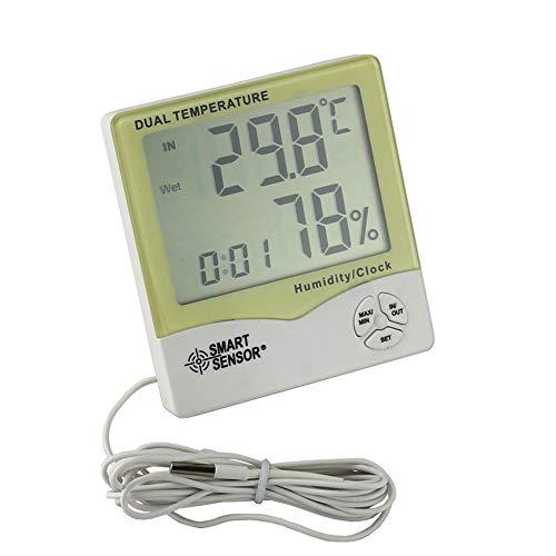 ZUHN Wetterstation, digitales elektronisches LCD-Präzisionsthermometer, Innen-Wetterstation, Innen- und Außenhygrometer und Thermometer mit Sonde