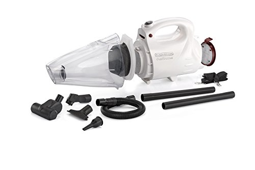 BLACK+DECKER VH802 800-Watt Vacuum Cleaner and Blower with 8 Attachment, White