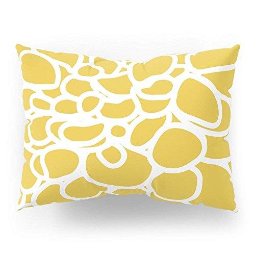 fengxutongxue Mustard Yellow Modern Dahlia Flower Pillow Sham Standard (20