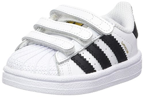 adidas Unisex-Baby Superstar Foundation CF I Lauflernschuhe Weiß (Footwear White/core Black/footwear White)