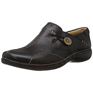 Clarks Un Loop, Women's Loafers, Black (Black Leather), 5 UK (38 EU)