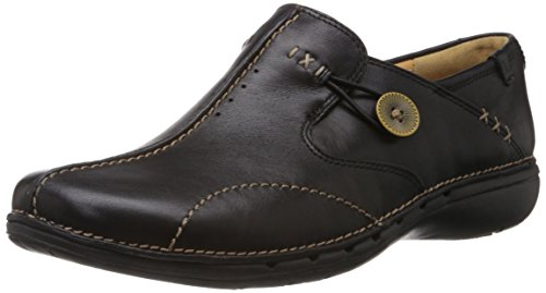 Clarks Un Loop, Women's Loafers, Black (Black Leather), 6 UK (39.5 EU)