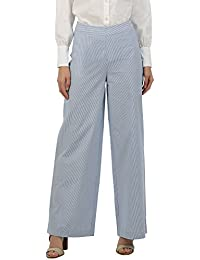 House of Three Women's Relaxed Fit Cotton Pants