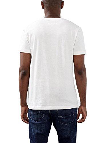 ESPRIT Herren T-Shirt 116ee2k003-Print, Blau Weiß (off White 110)