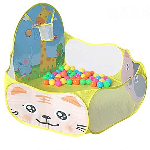 GWFVA Laufgitter Baby Zaun Kinderspielhaus für Kinder Indoor Outdoor Spielplatz Kinder Spielen Tunnelzelt mit Bällebad, bruchsicheres Spielzeug für den Haushalt