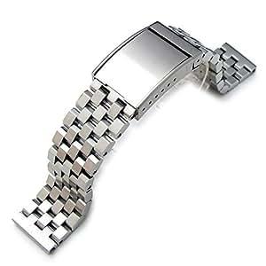Bande de métal SS232215B024(FR)–Bracelet en Acier Inoxydable, Couleur Argent (23)