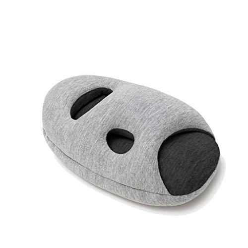 OSTRICHPILLOW MINI Cuscino da viaggio per dolori cervicali durante il sonno in aereo, treno, auto, ufficio, casa - Colore Scuro - Midnight Grey