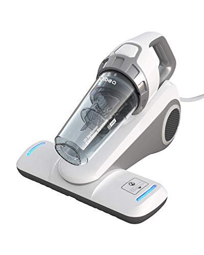 Dibea UV-Matratzenstaubsauger Handstaubsauger 10000Pa 300W Leistungsstark mit 4,5m Kabel Beutellos Zyklonsystem Hepa-Filter 400ML Staubbehälter Allergiker Bett Sofa UV-10