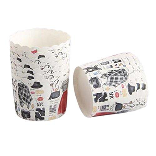Blancho 100 PCS Tasse de Cupcake de papier de cuisson, Tasse de moule de cupcakes créative #10