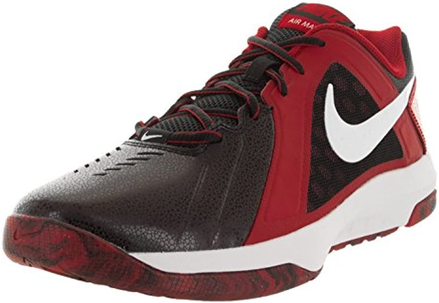 Nike Men's Air Mavin Low Basketball Shoe  Rot  42 D(M) EU/7.5 D(M) UK