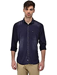 Dark Blue Denim Full Sleeve Casual Shirt