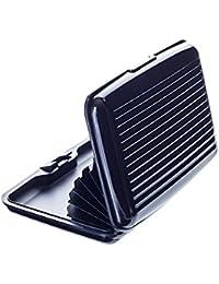 VALLET™ Premium Kreditkartenetui aus Aluminium - blockiert RFID und NFC – für Kreditkarten, Personalausweis, EC-Karte etc. – 6 Fächer für bis zu 12 Karten