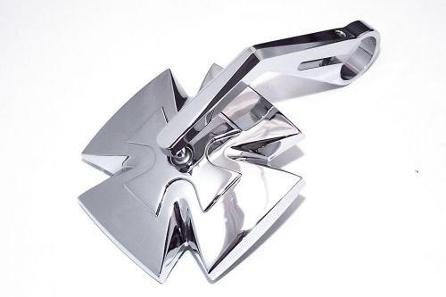 HIGHSIDER Lenkerendenspiegel IRON CROSS, chrom, e-gepr. (Iron Cross Automotive)