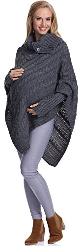 Be Mammy Pullover de Grossesse Femme Noemi Graphite