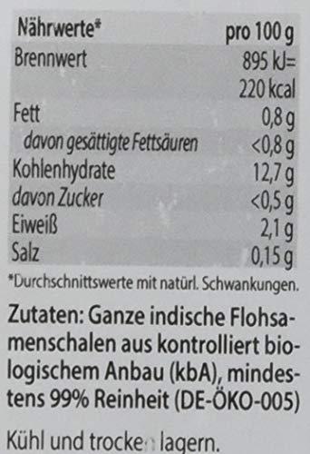 Avitale Ganze Flohsamenschalen aus Indien, 99% Reinheit, reich an Ballaststoffen, Bio-Ware – Geprüfte Qualität aus Indien – Verpackt in Deutschland, 1er Pack (1 x 250 g)