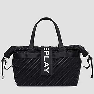 Replay - Tasche Aus Gedrucktem Nylon - Fm3418.000.a0172a