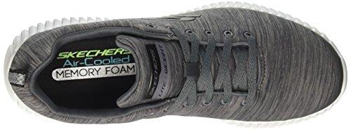 Skechers Elite Flex-attard, Baskets Homme Gris (Charcoal)