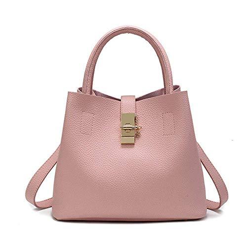 Wghz Damen Laptop Tote Bag große quadratische Handtaschen mit verstellbarem Griff Lehrer Shopper Taschen Candy Farbe PU Leder Daypack (Toten Handy Kostüm)