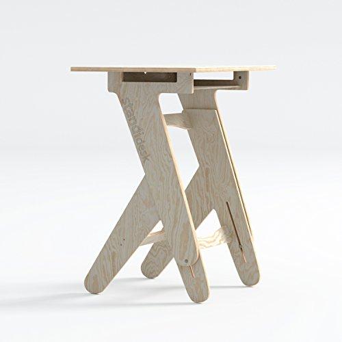 Standidesk Schreibtisch Höhenverstellbar - Manuell Einstellbarer Steh Schreibtisch Aus Hochwertigem...