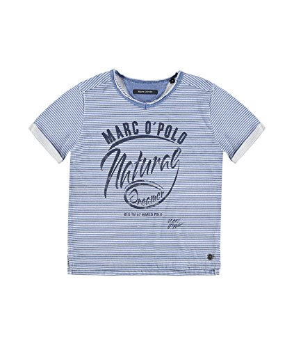 Marc O'Polo Jungen, T-Shirt, T-Shirt 1/4 Arm, Blau (Dress Blue 3043), 104