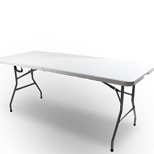 BITUXX Campingtisch Gartentisch Balkontisch Klapptisch Kaffeetisch Reisetisch Tisch 180 x 74 x 73 cm