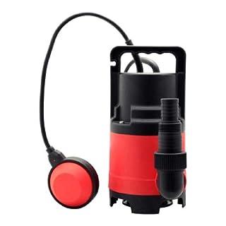 Grafner Schmutzwasserpumpe 400 Watt bis 8000 l/h Förderleistung, Ø25mm Fremdkörper, Schwimmschalter, Tragegriff, Universalanschlüsse, Schmutzwasser Tauchpumpe