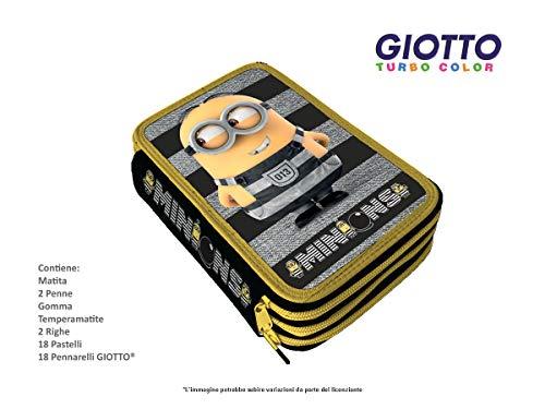 Astuccio 3 zip minions giotto+disney mc.-mn0244-