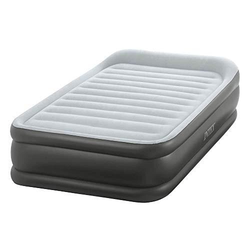 Intex L&G FR 64432 DELUXE REST BED FIBER TECH Lit gonflable Vinyle Gris 99 x 191 x 42 cm
